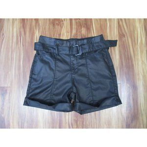 White House Black Market Faux Leather Shorts 2